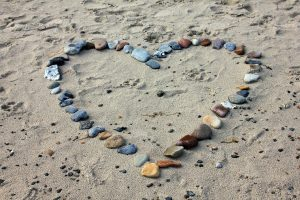 Rock Heart on Beach